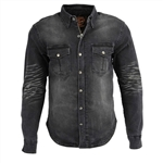 Denim Motorcycle Body Armor Shirt