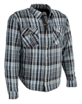 Flannel Riding Body Armor Shirt: Red Black Plaid