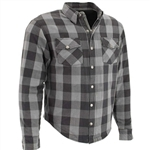 Flannel Armored Motorcycle Shirt, Plaid