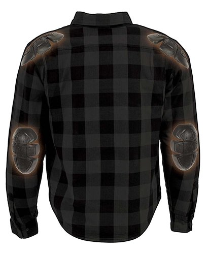 Lightweight Flannel Motorcycle Body Armor Shirt