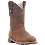 McRae Pull-On Brown Leather Work Boots