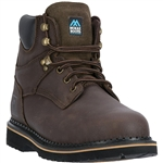McRae Men's Ruff Rider Brown Leather Work Boots MR86144