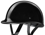 Novelty Motorcycle Helmets: Gloss Black Polo