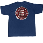Old Guys Rule T-Shirts: Fire Fighter Badge