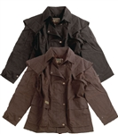 DownUnder 3/4 Oil Cloth Drover Jacket: Oil Skin Duster