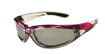 Women's Pink Padded Riding Glasses