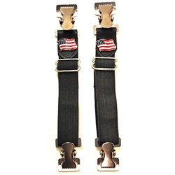 Biker Boot Straps - Motorcycle Pants Bungee - USA Flag
