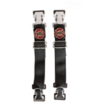 Biker Boot Straps - Motorcycle Pants Bungee - Firefighter
