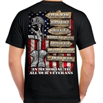 In Memorial to All Our Veterans Military Shirt