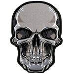 Hard Core Skull - Embroidered Motorcycle Patch