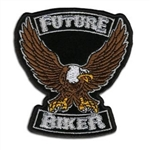 "Kids ""Future Biker"" Embroidered Eagle Patch"