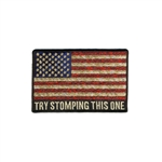 Biker Patches: USA Flag, try stomping this