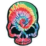 Biker Patches: Tie Dye Skull Head