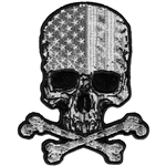 Skull & Bones Biker Patches: USA Flag