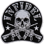 Skull Infidel Biker Patches: