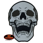 Reflective Skull - Embroidered Motorcycle Patch