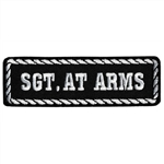 Sargent at Arms Motorcycle Patch