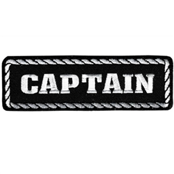 Captain Motorcycle Club Patch, Embroidered