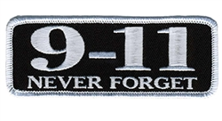 9-11 Never Forget Embroidered Patch