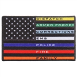 "First Responder Thin Line Flag 4"" American Flag Patch"