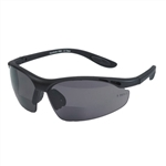 Safety Bifocal Riding Glasses - Smoke Lens