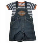 Harley-Davidson Toddler Boy Denim Overalls, Shortalls