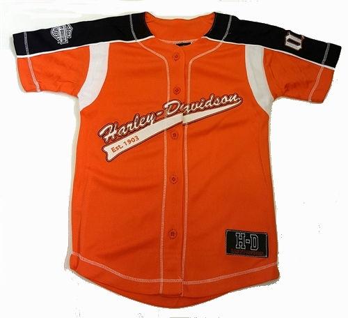 0647fc062 Official Harley-Davidson Kids Baseball Jersey Shirt