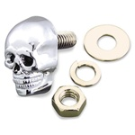 Chrome Motorcycle Skull Bolt