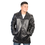 Mens Lambskin Leather Car Coat
