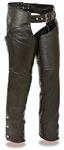 Premium Leather Womens Motorcycle Chaps
