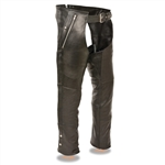 Thermal Premium Soft Leather Motorcycle Chaps