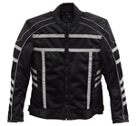 Textile Reflective Motorcycle Jacket for Women