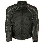 Mesh & Leather Motorcycle Jackets: Body Armor, Milwaukee