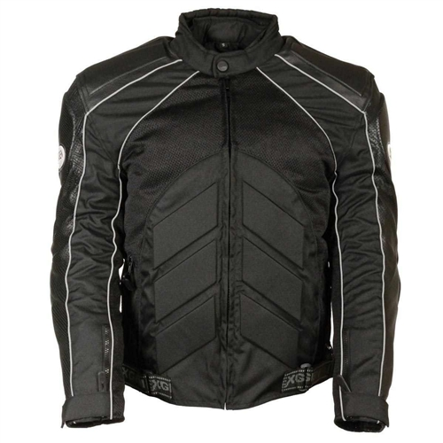 2165e55ae Mesh & Leather Body Armor Motorcycle Jacket