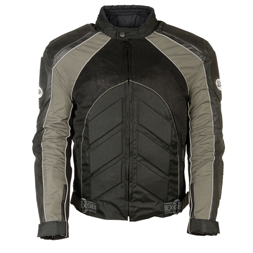 e627d4c84 Mesh & Leather Armored Motorcycle Jacket