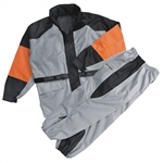 Leather Bound:  2 Piece Motorcycle Rain Gear Suit