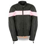 Women's Lightweight Motorcycle Jacket - Pink Stripe
