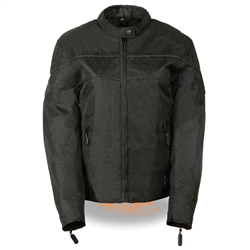 Ladies Black Textile Lightweight Motorcycle Jacket