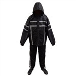 Reflective Mens Nylon Motorcycle Rain Gear Suit