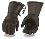Waterproof Leather Motorcycle Gauntlet Gloves for Bikers