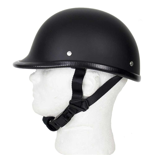 Lightweight Motorcycle Helmet >> Flat Black Polo Novelty Helmet