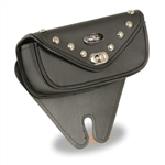 Small Motorcycle Windshield Bag: Studded