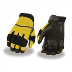 Summer Yellow Mesh Motorcycle Gloves