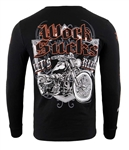 Men's Biker Long Sleeve Shirts: Work Sucks, Lets Ride