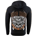 Ride Hard, Play Hard Biker Zip-Up Hoodie