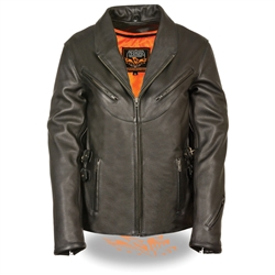 Women's Leather Motorcycle Jackets - Gun Pockets