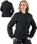 Textile Black Women's Motorcycle Jacket