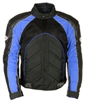 Men's Motorcycle Racing Jacket: Padded Body Armor