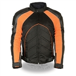 Men's Leather Motorcycle Jacket: Armored