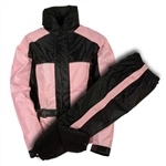 Women's Motorcycle Rain Gear Suit: Pink Set